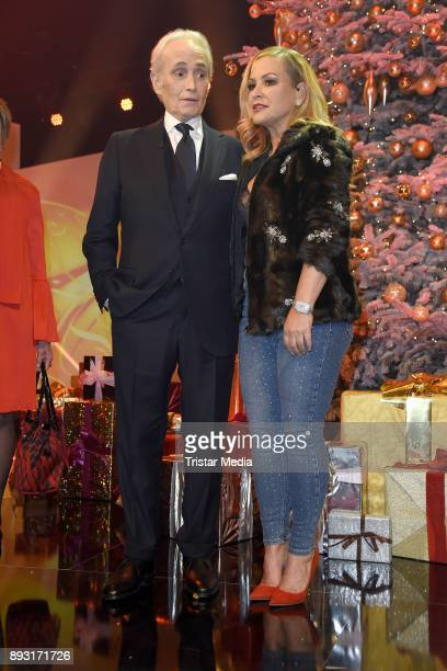 Jose Carreras and Anastacia Lyn Newkirk attend the 23th Annual Jose Carreras Gala on December 14 2017 in Munich Germany