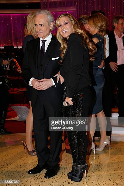 Jose Carreras and Anastacia perform during the 18th Annual Jose Carreras Gala on December 13 2012 in Leipzig Germany