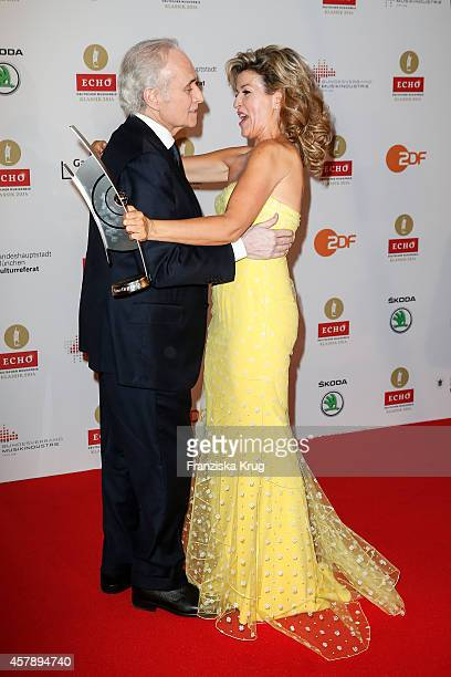 Jose Carreras and Anne-Sophie Mutter attend the ECHO Klassik 2014 on October 26, 2014 in Munich, Germany.