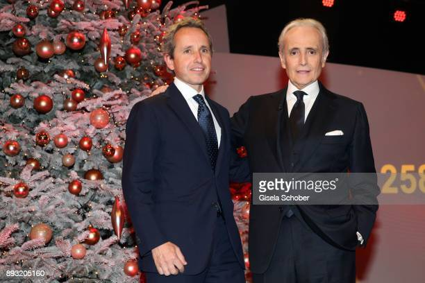 Jose Carreras and his son Albert Carreras during the 23th annual Jose Carreras Gala at Bavaria Filmstudios on December 14 2017 in Munich Germany