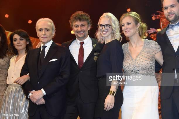 Jose Carreras Jonas Kaufmann Stefanie Heinzmann Nina Eichinger attends the 23th Annual Jose Carreras Gala on December 14 2017 in Munich Germany