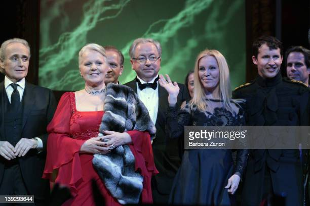 Jose Carreras, Katia Ricciarelli, Guests, Patty Pravo and James Blunt attend the exclusive Ballo della Cavalchina at Fenice Theatre on February 18,...