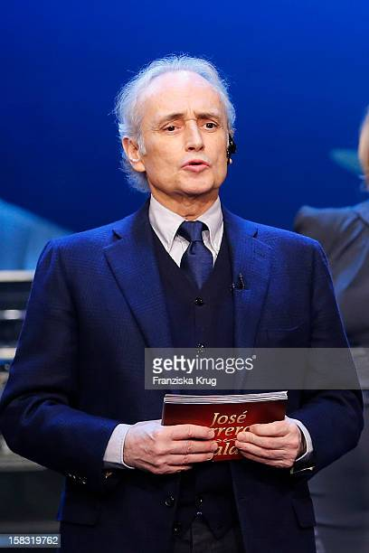 Jose Carreras performs during the 18th Annual Jose Carreras Gala Rehearsals on December 13 2012 in Leipzig Germany