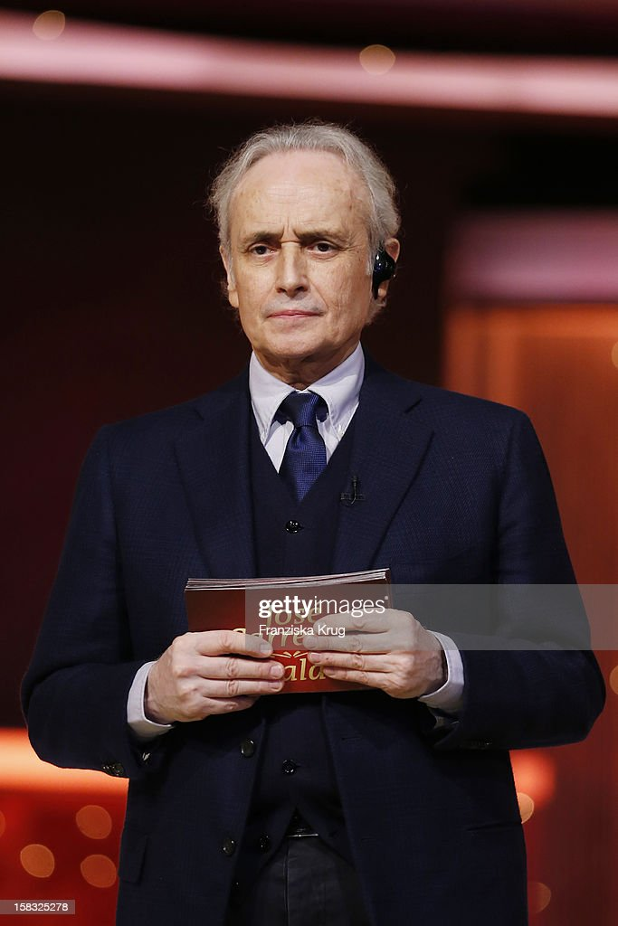 Jose Carreras performs during the 18th Annual Jose Carreras Gala - Rehearsals on December 13, 2012 in Leipzig, Germany.