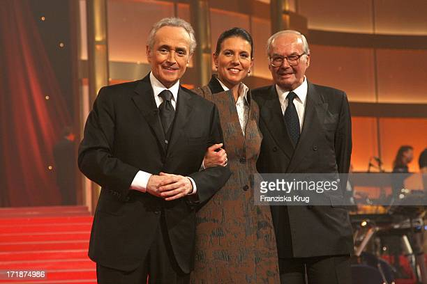 Jose Carreras With wife Jutta Jäger And Karl Scheufele at the conclusion of the Mdr picture show Jose Carreras Gala in Leipzig