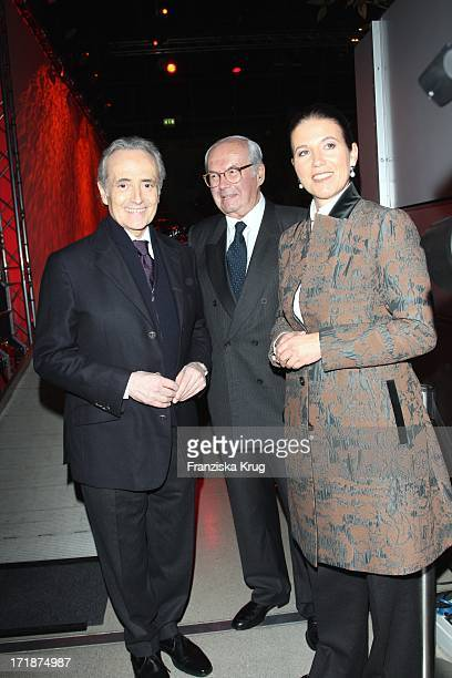 Jose Carreras With wife Jutta Jäger And Karl Scheufele at the Party After The Mdr show Jose Carreras Gala in Leipzig