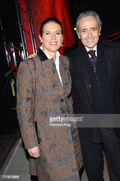 Jose Carreras With wife Jutta Jäger at the Party After The Mdr show Jose Carreras Gala in Leipzig