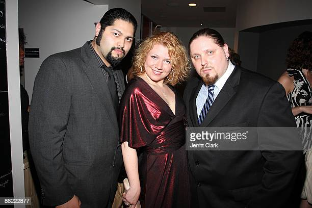 Jose Castillo actress Nicole Allen and Pro Wrestler/Actor/Author Brimstone attend the 2nd annual Fashion and Football event at the Equinox Space on...