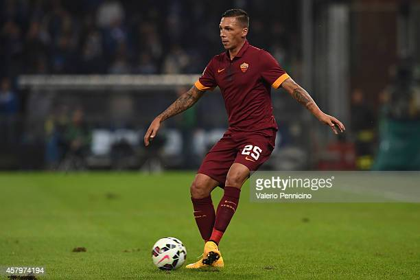 Jose Cholevas of AS Roma in action during the Serie A match between UC Sampdoria and AS Roma at Stadio Luigi Ferraris on October 25 2014 in Genoa...