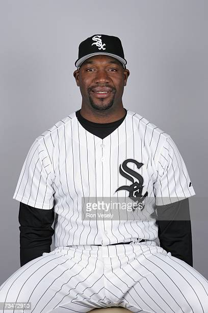 Jose Contreras of the Chicago White Sox poses during photo day at Tucson Electric Park on February 24 2007 in Tucson Arizona