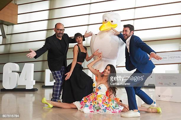 Jose Corbacho Belen Cuesta Almudena Cid and Arturo Valls attend 'Ciguenas' photocall during 64th San Sebastian Film Festival at Kursaal on September...