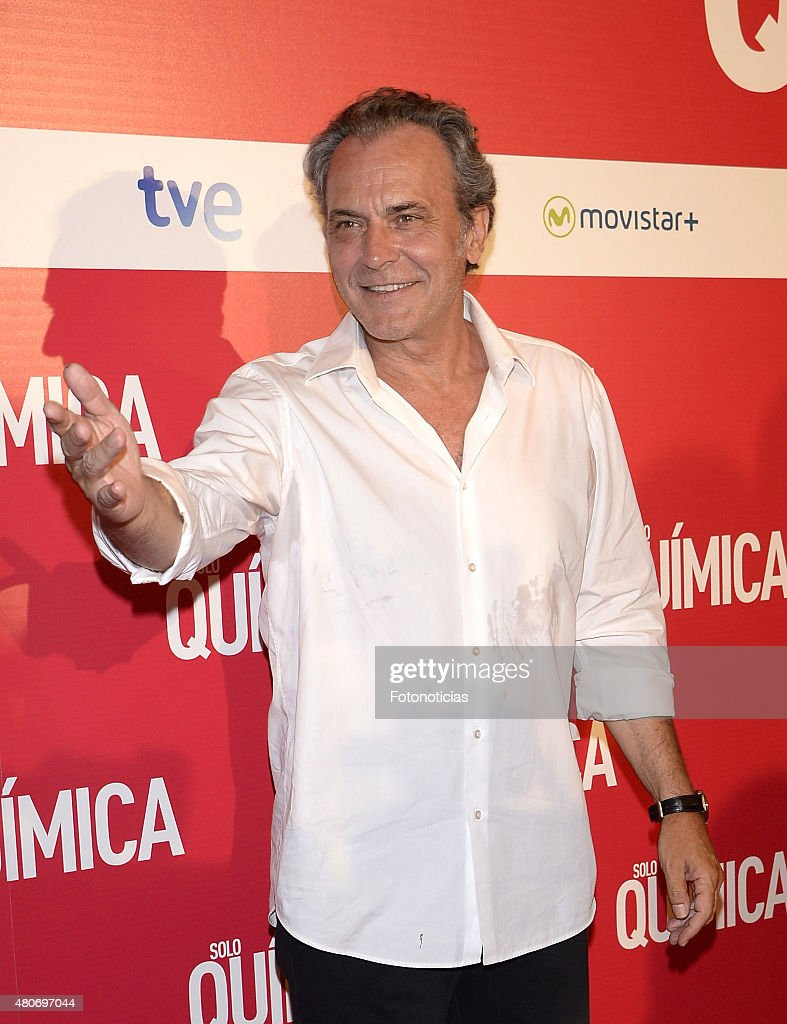 Jose Coronado attends the 'Solo Quimica' Premiere at Palafox Cinema on July 14, 2015 in Madrid, Spain.