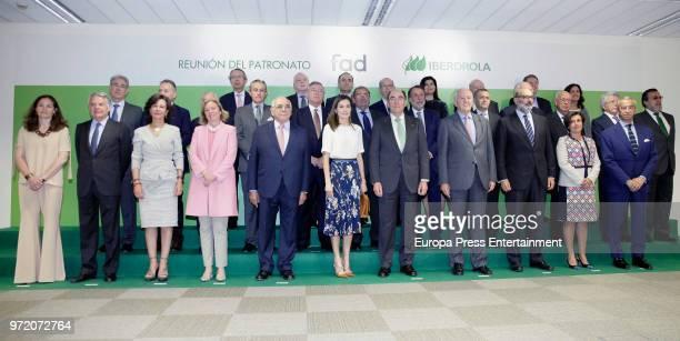 Jose Creuheras Queen Letizia of Spain Ana Patricia Botin Ignacio Sanchez Galan Asis Martin de Cabiedes Jose Antonio Vera Santiago de Ybarra y...