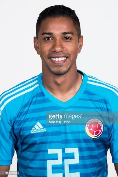 Jose Cuadrado of Colombia poses for a portrait during the official FIFA World Cup 2018 portrait session at Kazan Ski Resort on June 13 2018 in Kazan...