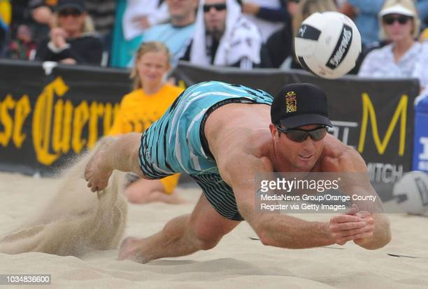 Scott Varley Jose Cuervo Hermosa Beach Open Day 2 of the volleyball tournament Top seeded Jake Gibb and Sean Rosenthal defeat Matt Olson and Steve...