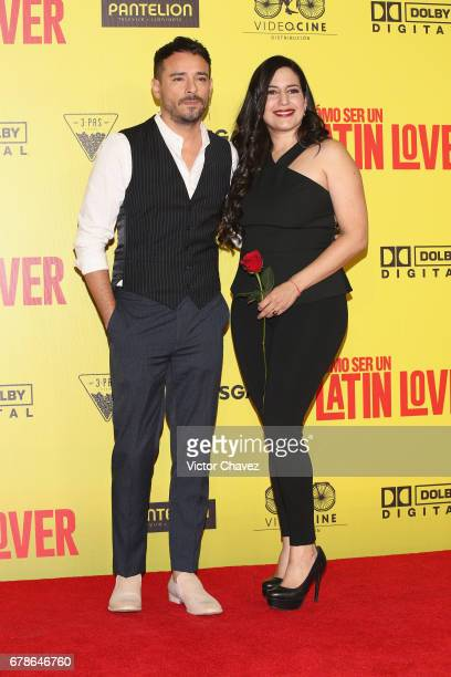 Jose Daniel Figueroa and Tiare Scanda attend the 'How To Be A Latin Lover' Mexico City premiere at Teatro Metropolitan on May 3 2017 in Mexico City...
