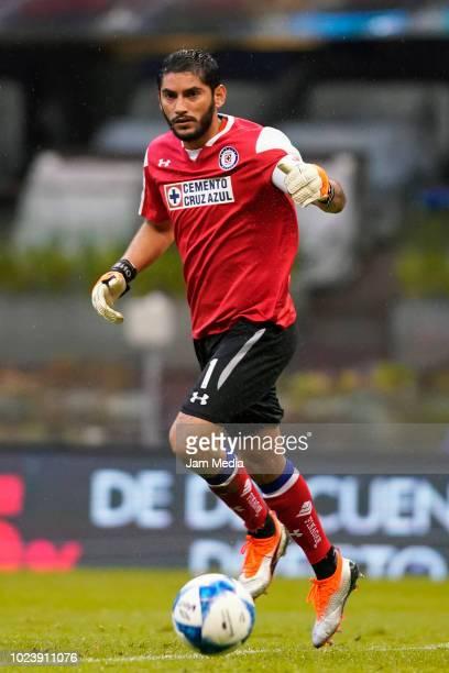 Jose de Jesus Corona of Cruz Azul controls the ball during the 6th round match between Cruz Azul and Toluca as part of the Torneo Apertura 2018 Liga...