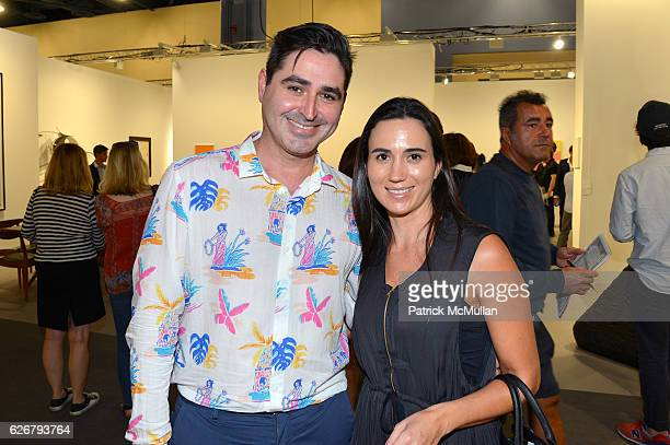 Jose Diaz and Adriana Vegara attend the 'The future is our only goal' exhibiton at Galerie Gmurzynska at Art Basel Miami Beach 2016 at Miami Beach...