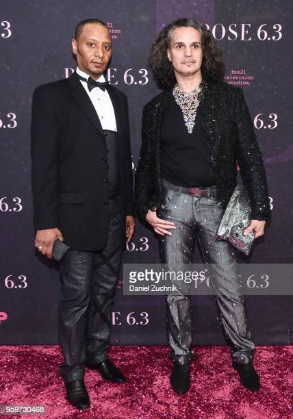 Jose Disla and Hector Xtravaganza attend the New York premiere of FX series 'Pose' at Hammerstein Ballroom on May 17 2018 in New York City