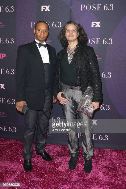 Jose Disla and Hector Xtravaganza attends the New York premiere of Pose at the Hammerstein Ballroom on May 17 2018 in New York New York