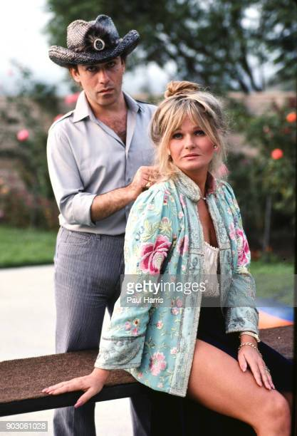 Jose Eber celebrity hair stylist working with Valerie Perrine June 10 1991 in Beverly Hills Los Angeles California