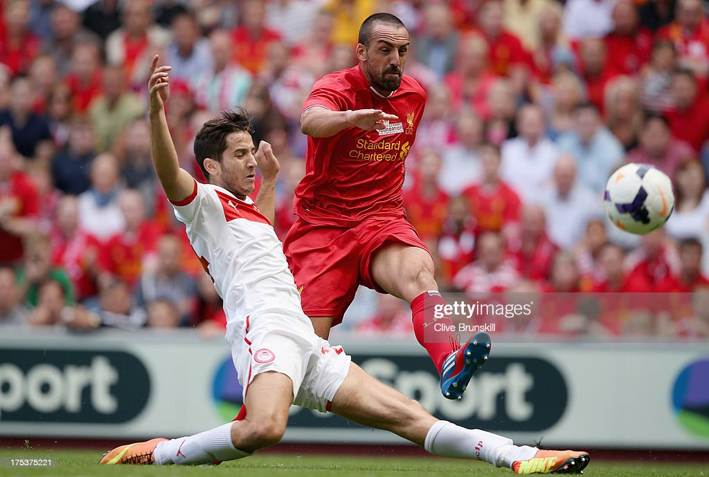 Liverpool v Olympiacos - Steven Gerrard Testimonial : News Photo