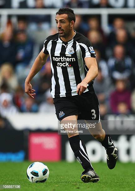Jose Enrique of Newcastle in action during the Barclays Premier League match between Newcastle United and Wigan Athletic at St James' Park on October...