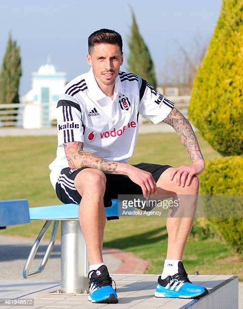 Jose Ernesto Sosa of Besiktas poses after a training session during their midseason training camp of Besiktas on January 22 2015
