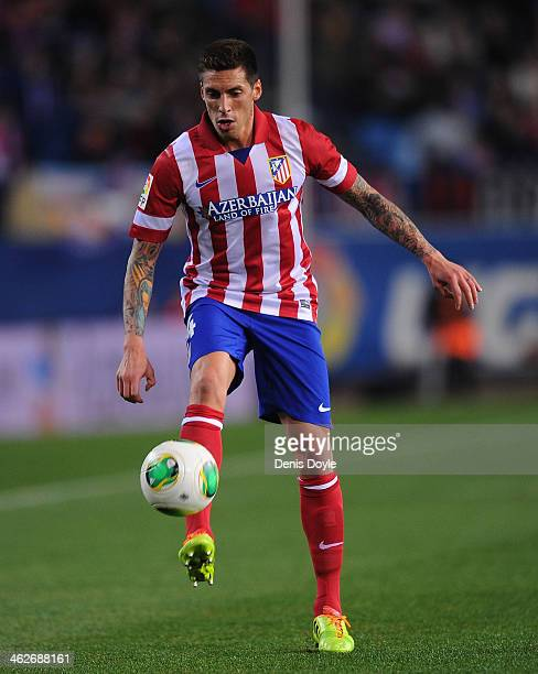 Jose Ernesto Sosa of Club Atletico de Madrid in action during the Copa del Rey Round of 16 2nd leg match between Club Atletico de Madrid and Valencia...