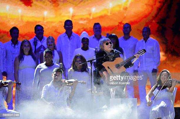 Jose Feliciano onstage at Telemundo's Premios Tu Mundo Your World Awards at American Airlines Arena on August 25 2016 in Miami Florida
