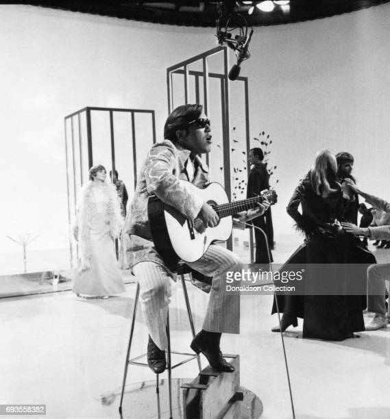 Jose Feliciano performs on This Is Tom Jones TV show in circa 1970 in Los Angeles California
