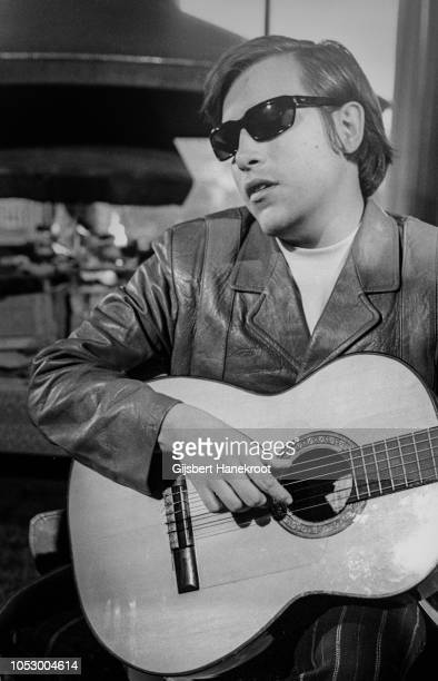 Jose Feliciano posing at the Hilton hotel Amsterdam Netherlands February 1970