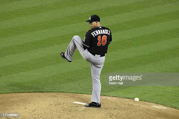 Jose Fernandez of the Miami Marlins delivers a pitch against the Arizona Diamondbacks at Chase Field on June 19 2013 in Phoenix Arizona