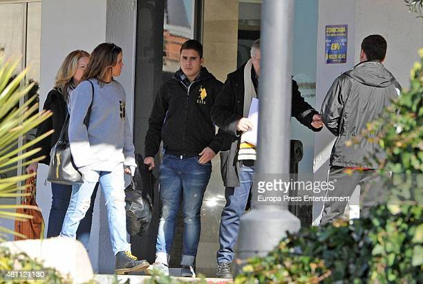 Jose Fernando Ortega , Gloria Camila Ortega and Mari Carmen Ortega are seen after the ex bullfighter Jose Ortega Cano has been allowed to be out of...