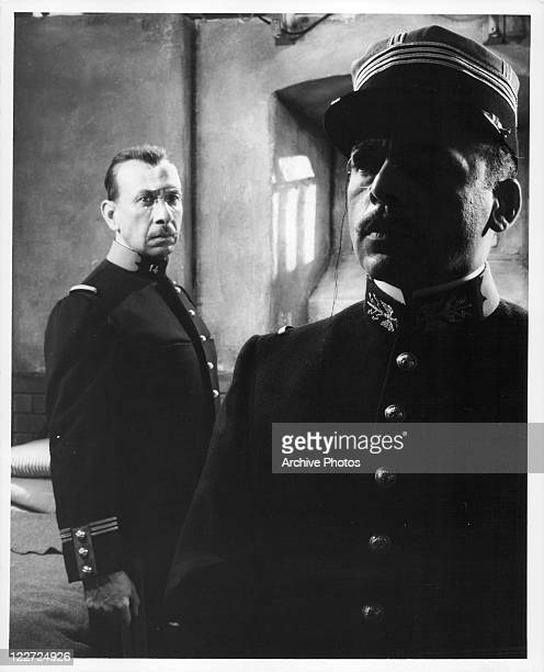 Jose Ferrer is visited in prison by Herbert Lom in a scene from the film 'I Accuse' 1958