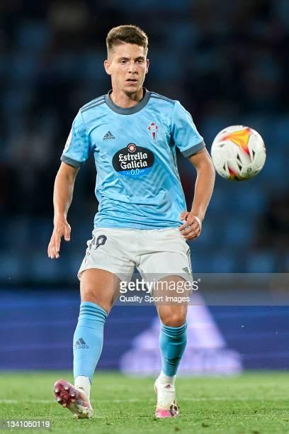 Jose Fontan of Celta de Vigo in action during the La Liga Santander match between RC Celta de Vigo and Cadiz CF at Abanca Balaidos Stadium on...