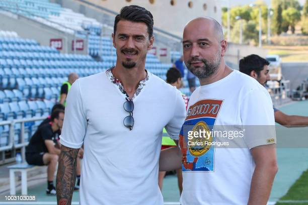 Jose Fonte and Gerard Lopez during the match between Everton FC and LOSC Lille for Algarve Football Cup 2018 at Estadio do Algarve on July 21, 2018...