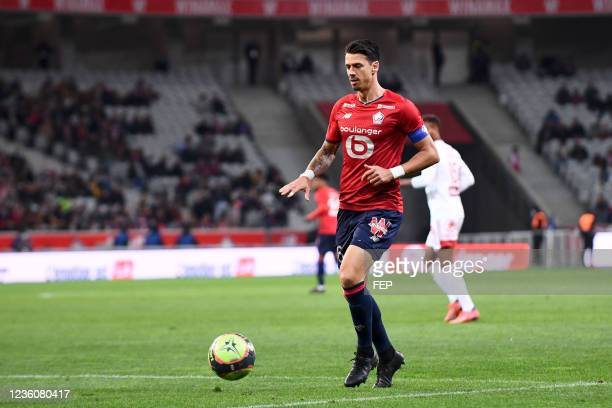 Jose FONTE during the Ligue 1 Uber Eats match between Lille and Brest at Stade Pierre Mauroy on October 23, 2021 in Lille, France.