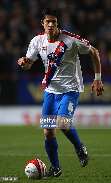 Jose Fonte of Crystal Palace in action during the Coca Cola Championship match between Charlton Athletic and Crystal Palace at The Valley on January...