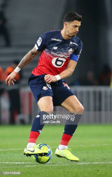 Jose Fonte of Lille during the Ligue 1 match between Lille OSC and Stade Rennais at Stade Pierre Mauroy on February 4, 2020 in Villeneuve d'Ascq near...