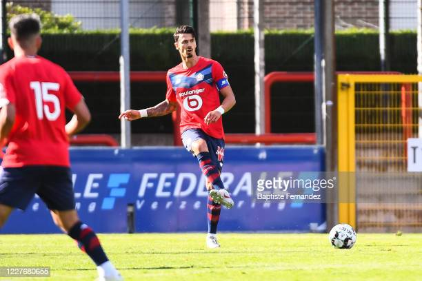 Jose FONTE of Lille during the preseason soccer friendly match between Lille and Mouscron on July 18 2020 in Mouscron Belgium