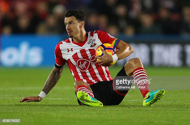 Jose Fonte of Southampton during the Premier League match between Southampton and Everton at St Mary's Stadium on November 27 2016 in Southampton...
