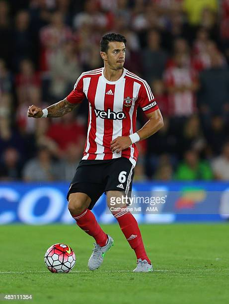 Jose Fonte of Southampton during the UEFA Europa League Qualifier between Southampton and Vitesse at St Mary's Stadium on July 30 2015 in Southampton...