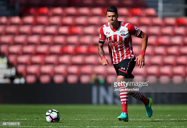 Jose Fonte of Southampton in action during the preseason friendly between Southampton and Athletic Club Bilbao at St Mary's Stadium on August 7 2016...