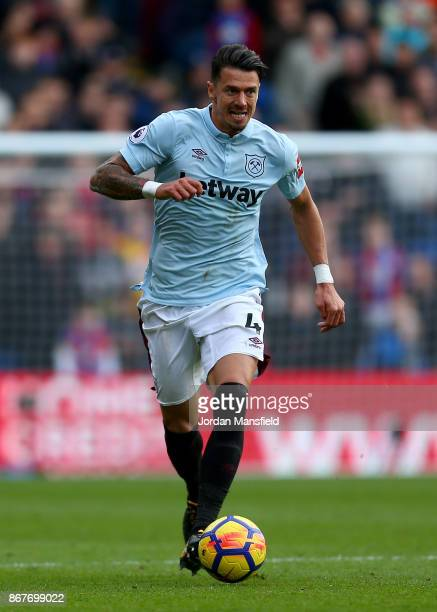 Jose Fonte of West Ham in action during the Premier League match between Crystal Palace and West Ham United at Selhurst Park on October 28 2017 in...