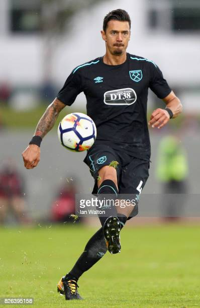 Jose Fonte of West Ham United in action during a Pre Season Friendly between Manchester City and West Ham United at the Laugardalsvollur stadium on...
