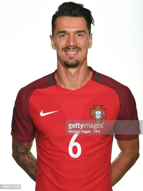Jose Fonte poses for a picture during the Portugal team portrait session on June 15 2017 in Kazan Russia