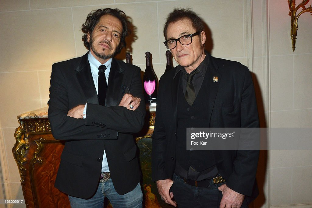 Jose Fosse and Frank Ross from Paco Chicano attend the 'Don't Tell My Booker' Supports La Croix Rouge Dinner - PFW F/W 2013 at the Hotel Intercontinental on March 2nd, 2013 in Paris, France.