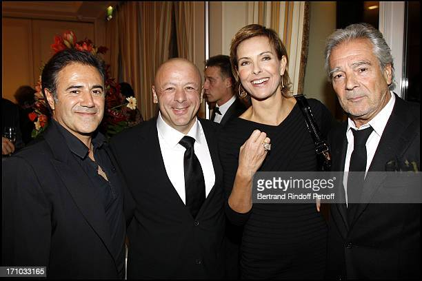 Jose Garcia Chef Thierry Marx Carole Bouquet Pierre Arditi at Dinner At Hotel Bristol For The Laureates Of The 5th Edition Of The Prize Les Trois...