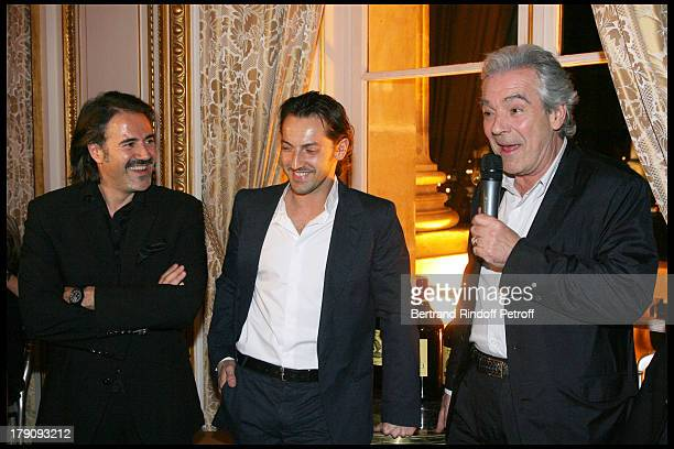 Jose Garcia Frederic Dieffenthal and Pierre Arditi at Dinner For The Fourth Edition Of Des Trois Coups De L'Angelus